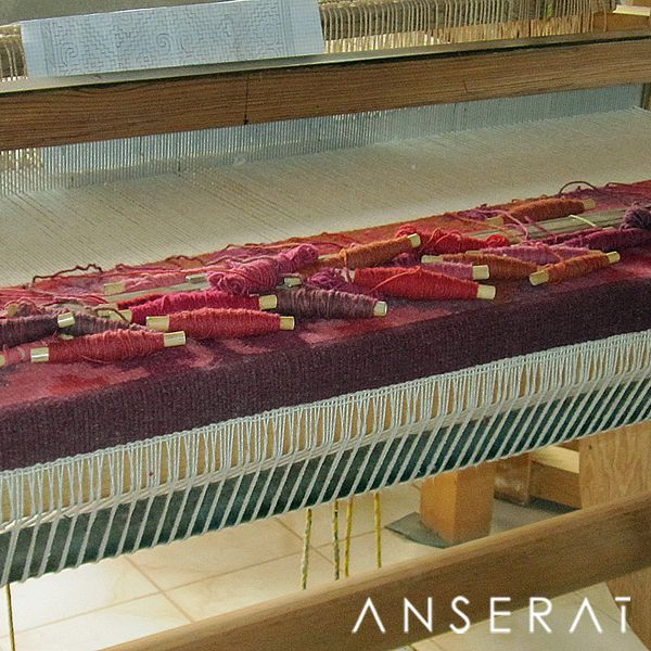 Artisans weaving traditional rugs in Oaxaca, Mexico // www.anserai.com