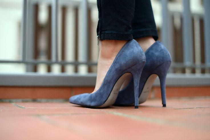 Zapatos de salón stilettos Berta ante gris Mas34 www.mas34shop.com