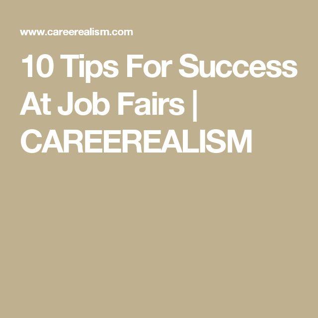 10 Tips For Success At Job Fairs   CAREEREALISM