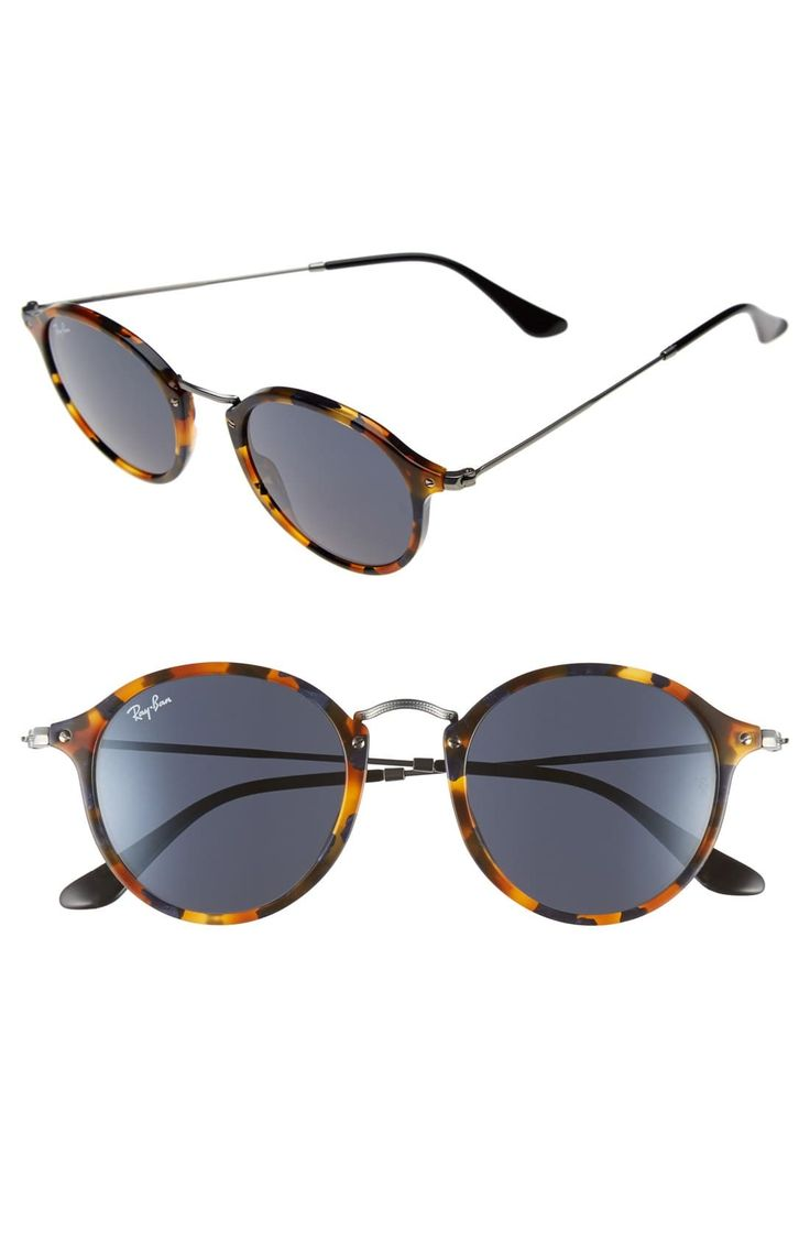 Herren Ray-Ban 49Mm Retro Sonnenbrille - Spotted Black Havana / Green