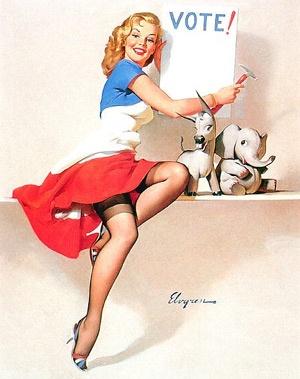 Vote!: Pinups, Pinupgirls, Vintage Pin, Vote, Art, Pinup Girl, Pin Ups, Gil Elvgren, Pin Up Girls