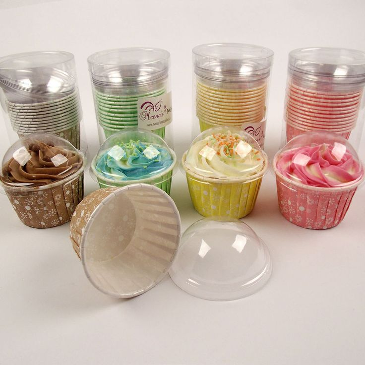 UNIQUE Quick Hard Cupcake Oven Cases with Clear Lids!  Cake Cases Pod Clam