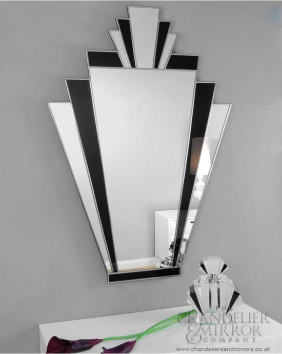 Art Deco Classic Fan Shaped Mirror Response To Caroline