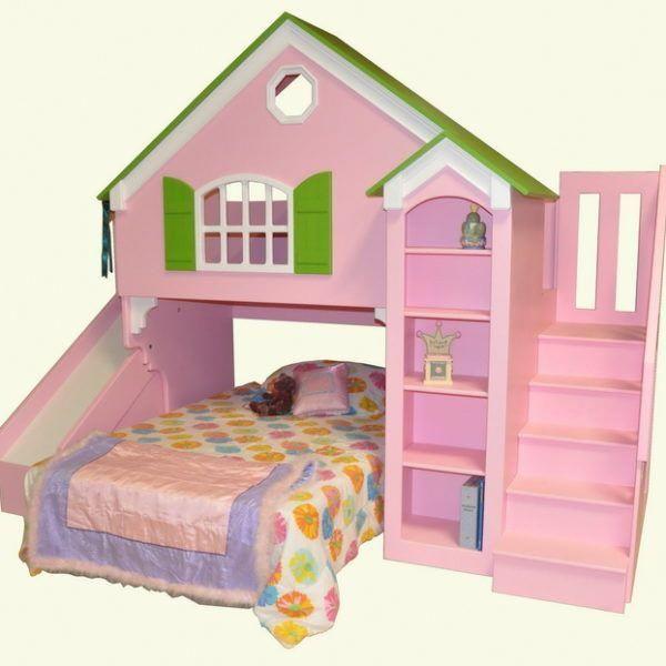 Dollhouse Loft Bed Custom Designed By Tanglewood Kids Loft Beds Bunk Bed With Slide Kid Beds