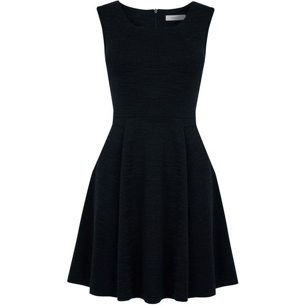 OASIS Slub Jersey Dress found on Polyvore featuring dresses, blue, blue dress, little black dress, lbd dress, slub jersey and oasis dress