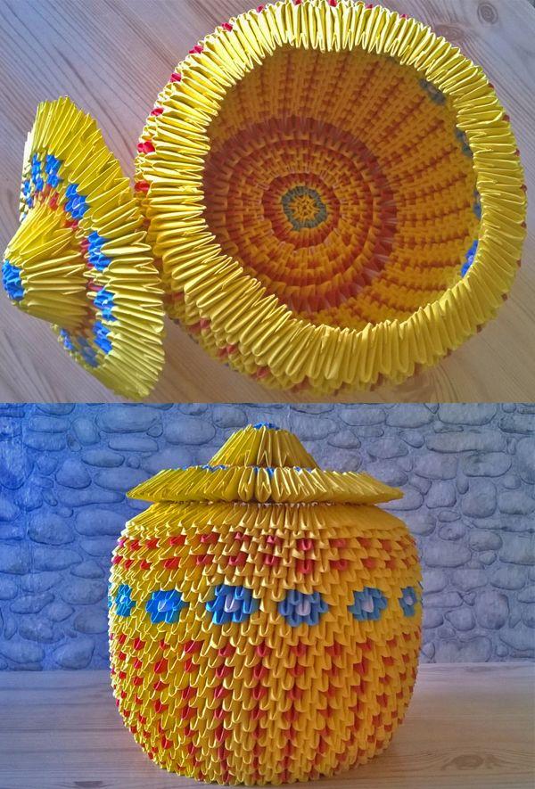 3D Origami jewellery box