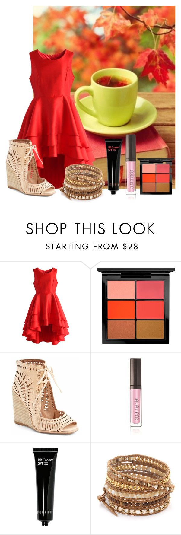 """FIRST Robotics Competition Colorado Regionals"" by rhythmicgoofyworm ❤ liked on Polyvore featuring Chicwish, MAC Cosmetics, Jeffrey Campbell, Laura Mercier, Bobbi Brown Cosmetics and Chan Luu"
