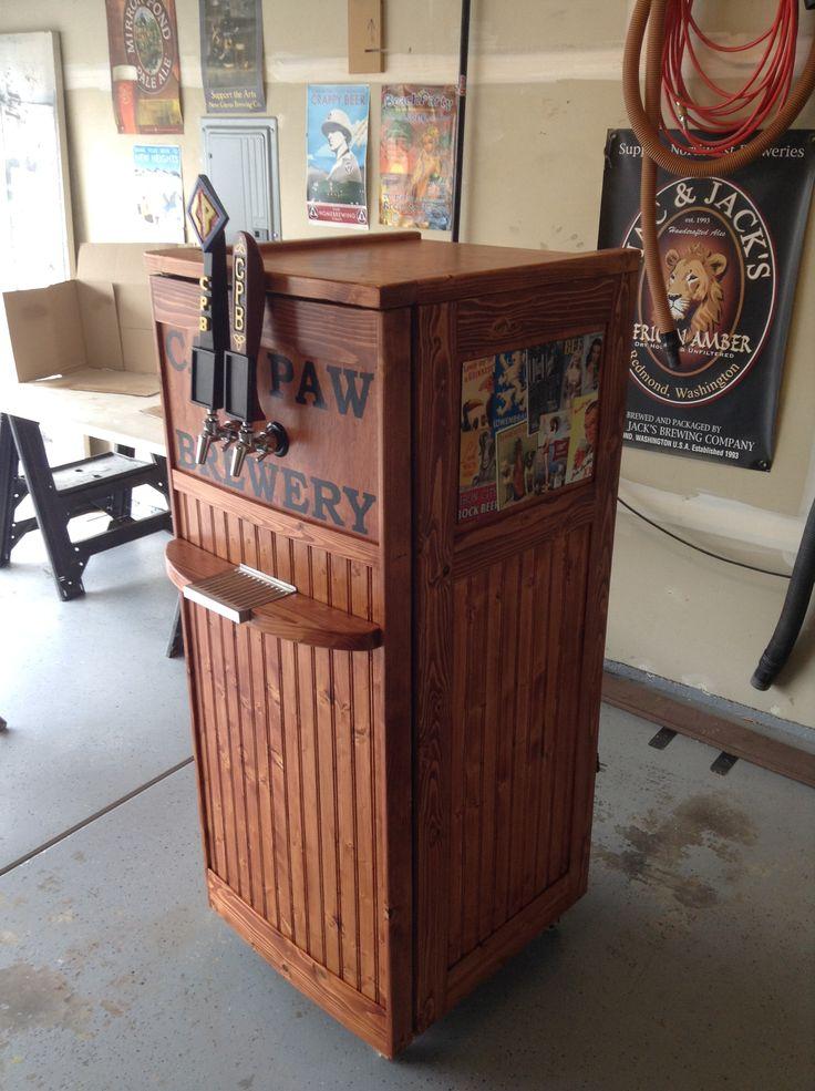 Best 25 beer fridge ideas on pinterest man shed fridges for Home bar with kegerator space
