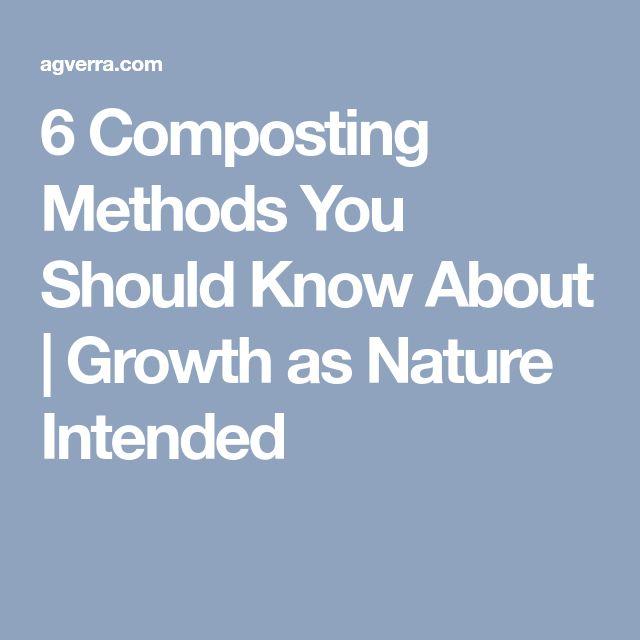 6 Composting Methods You Should Know About | Growth as Nature Intended