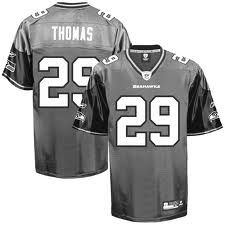 Seattle Seahawks 29 THOMAS grijs jersey