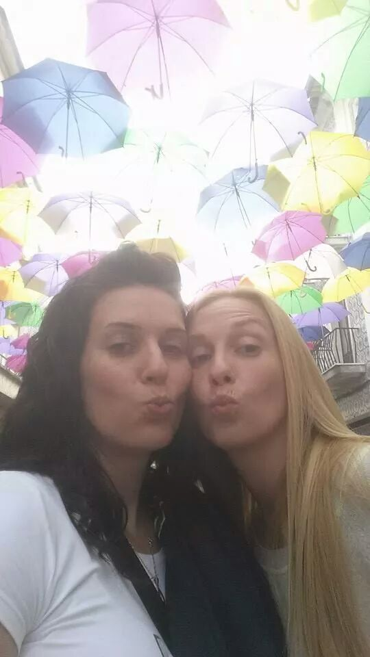 kiss kiss time with Mónica and Christine :)* #Agitagueda2014 #Agueda