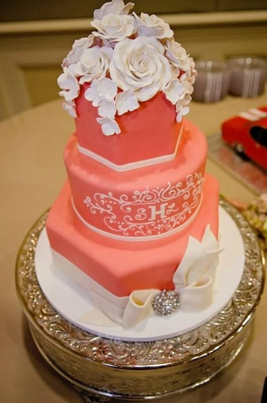 coral wedding cakes 11 best coral and khaki wedding images on 12949