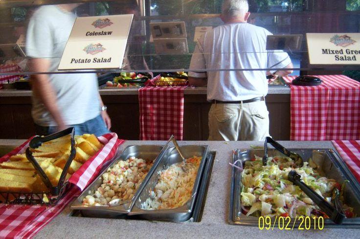 mickey 39 s backyard bbq food coleslaw salad potato salad cornbread