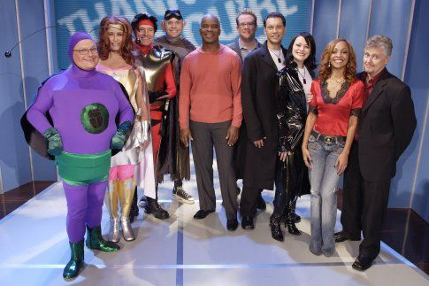 Still of Wayne Knight, Dave Foley, David Alan Grier, Brian Palermo, Jennifer Coolidge, Bryan Cranston, Joel McHale, Chris Tallman, Nyima Funk and Maribeth Monroe in Thank God You're Here (2007)
