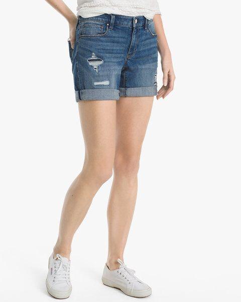 7c1d3aab9e White House Black Market 5-Inch Denim Girlfriend Shorts #womensfashion  #summeroutfits #denimshorts #shorts #girlfriendshorts #denim #womens  #fashion # ...