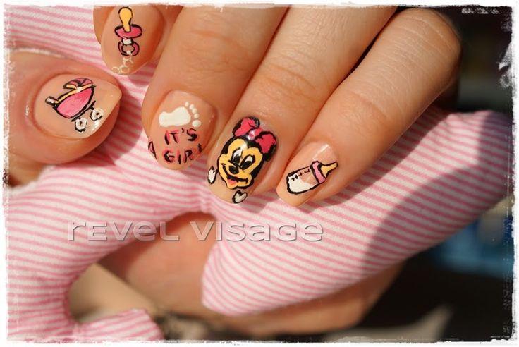 #revelvisage #nails #itsagirl #babyshower