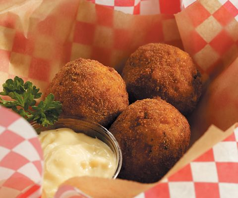 Boudin balls. Recipe by Nathanial Zimet; photo by Chris Cassidy.