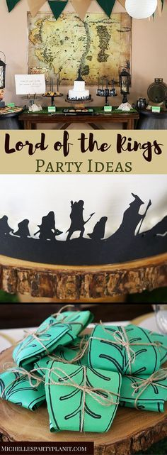 Step into the Shire for a Lord of The Rings Party! Inspired by the works of J.R.R. Tolkien, this party themes is perfect for birthdays & graduations!