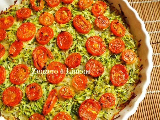 Torta di verdure light 400kcal intera