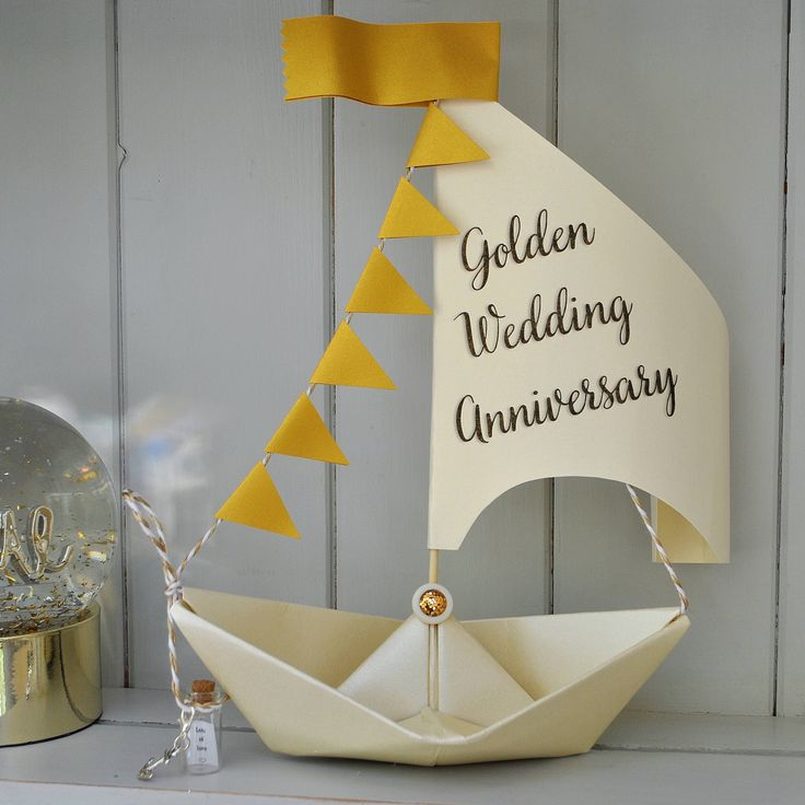 Excited to share the latest addition to my #etsy shop: Personalised 50th Golden Anniversary Card, Sailboat gift, 50th Anniversary Gift, Nautical card, Gold Wedding Anniversary, Golden Keepsake #papergoods #anniversary #white #anniversarygift #anniversarycard  #weddinganniversary #gold