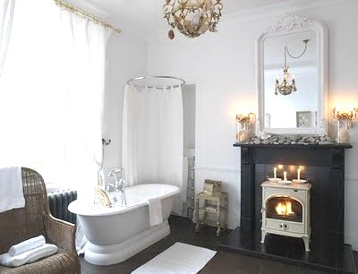 Modern Victorian Bathroom The White Log Burner