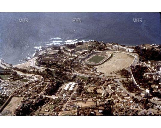Vista Aérea del Estadio de Playa Ancha        Año  1960                                                       Fuente:  Fotografía Patrimonial    M.H.N: