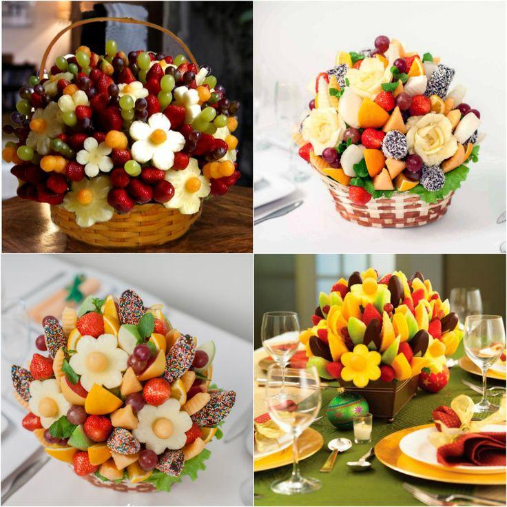 съедобные композиции из фруктов и ягод
