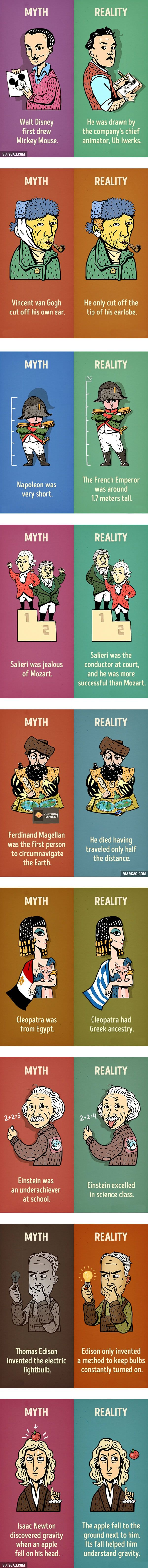 Nine historical myths we need to stop believing - 9GAG