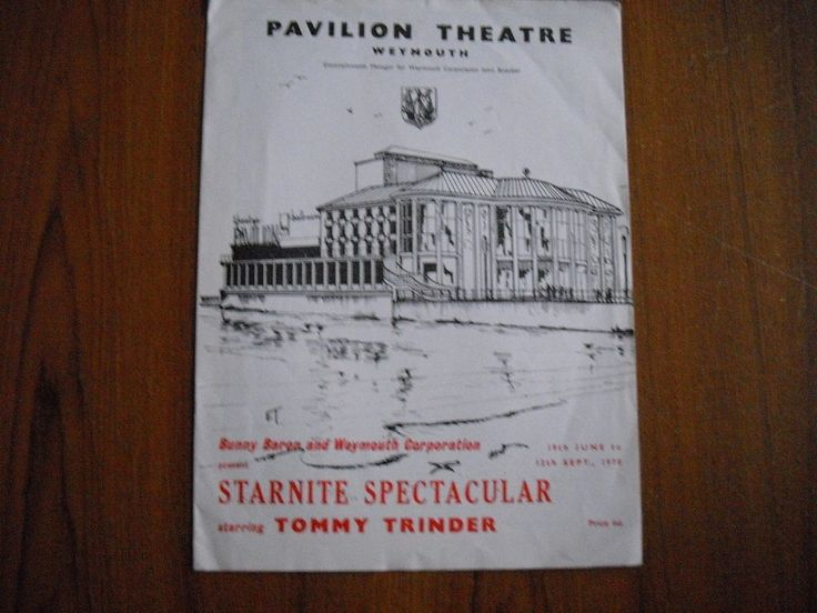 PAVILION THEATRE, WEYMOUTH - STARNITE SPECTACULAR - 1970 - TOMMY TRINDER  | eBay
