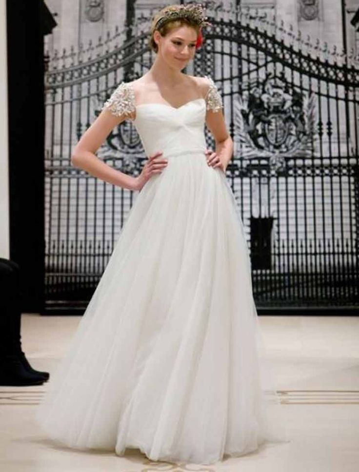 36 best Sleeves/straps wedding dress images on Pinterest | Wedding ...