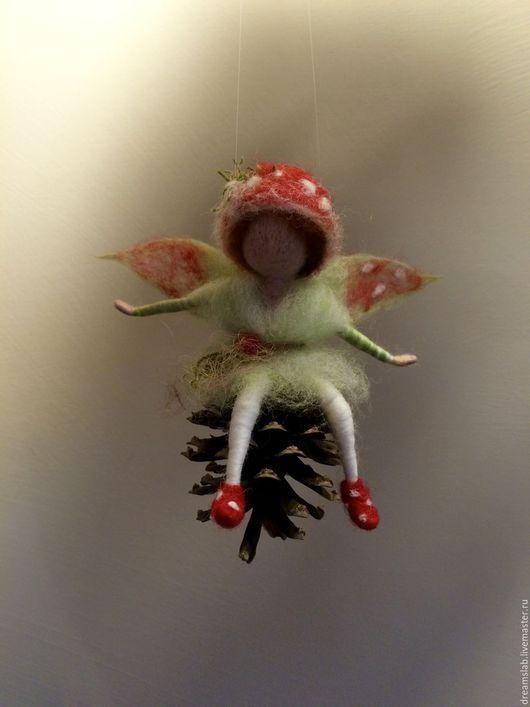 Коллекционные куклы ручной работы. Ярмарка Мастеров - ручная работа. Купить Валяние Лесной эльф. Handmade. Ярко-красный, эльф