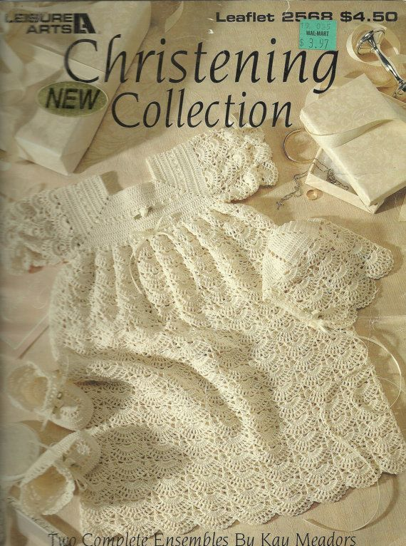 Christening Outfits Crochet 2 Different Patterns  Leisure Arts 2568
