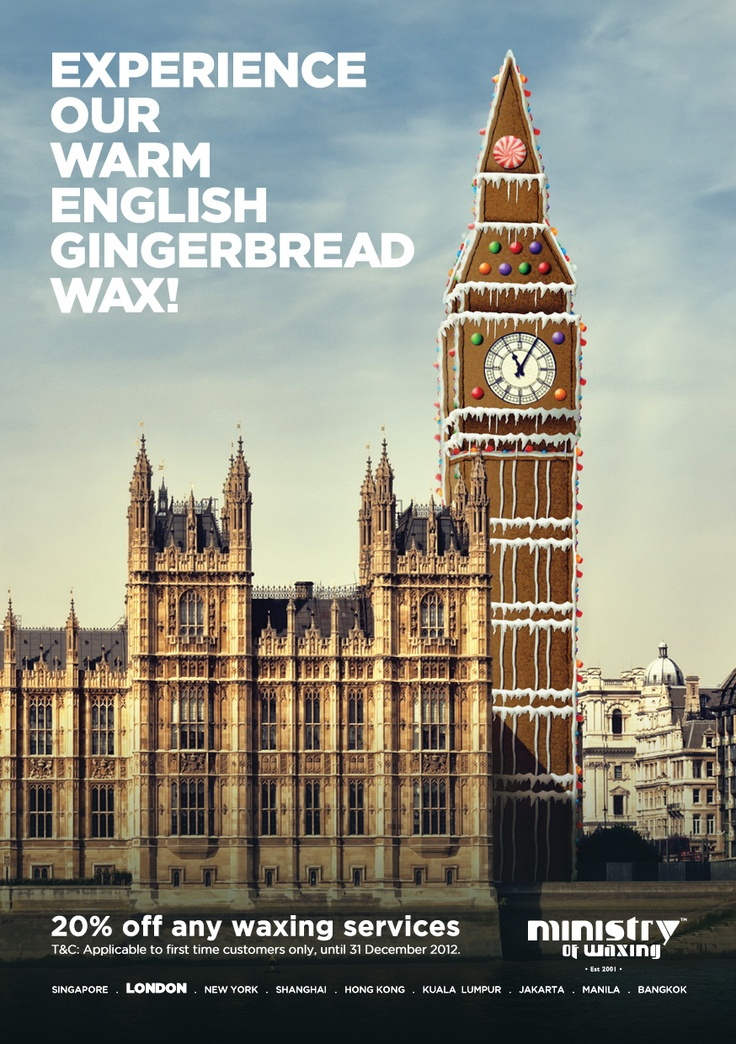 Festive gingerbread wax comes to Ministry of Wax. Amazing smelling wax that leaves your skin silky smooth. It's time to treat yourself this Christmas!