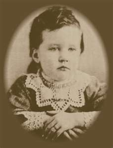 FAKE: The REAL Laura Ingalls Wilder FACT:  This is her daughter Rose Wilder Lane when she was 3 yrs old, NOT Laura herself.