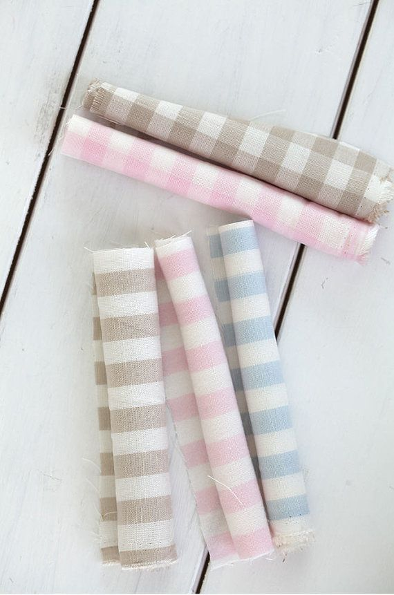* This listing is for 1 yard of one pattern. Please make your selection during checkout: Pink Stripes, Pink Plaids, Blue Stripes, Blue Plaids, Beige Stripes or Beige Plaids * 60% Linen + 40% Rayon * Stripes: 1 cm wide * Size: 1 Yard = 110 cm wide x 90 cm long (44 x 35.4) * Multiple yards will be cut in one continuous piece. * Great for bedding, curtain, dress, skirt, bag, cushion, table cloth, accessories and more  ----------------------------------------------- * If youd like to track ...