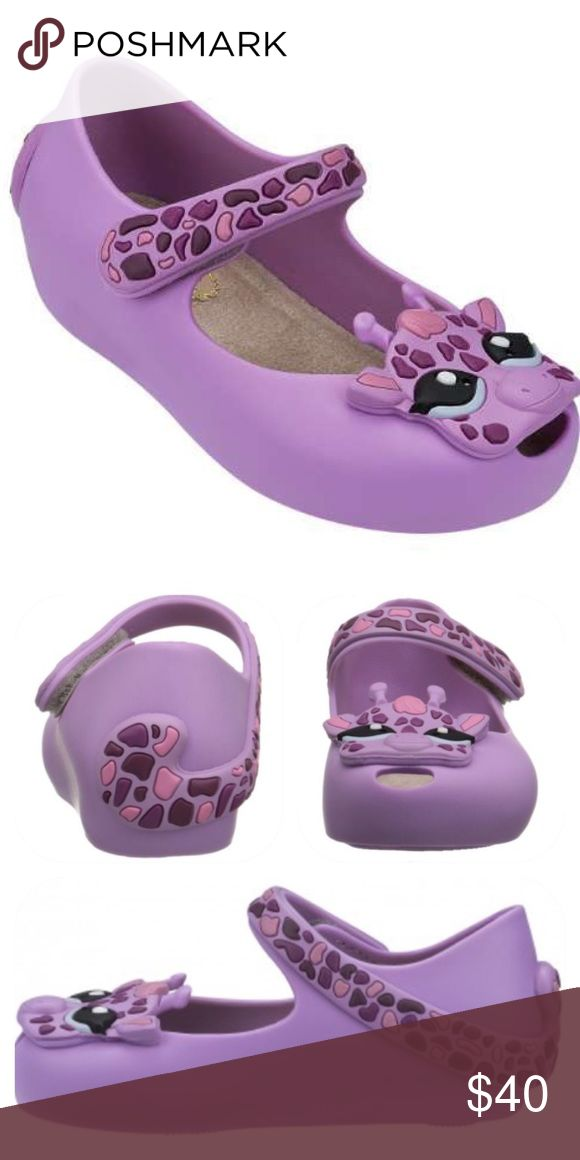 NEW Mini Melissa Purple Giraffe Maryjanes Brand new without box. Size 7. Smells heavenly! 100% authentic! Purchased at Nordstrom. Mini Melissa Shoes