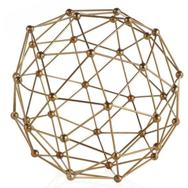Geo Sphere (65 AUD) found on Polyvore featuring home, home decor, circle, decor, circular, round and contemporary home decor