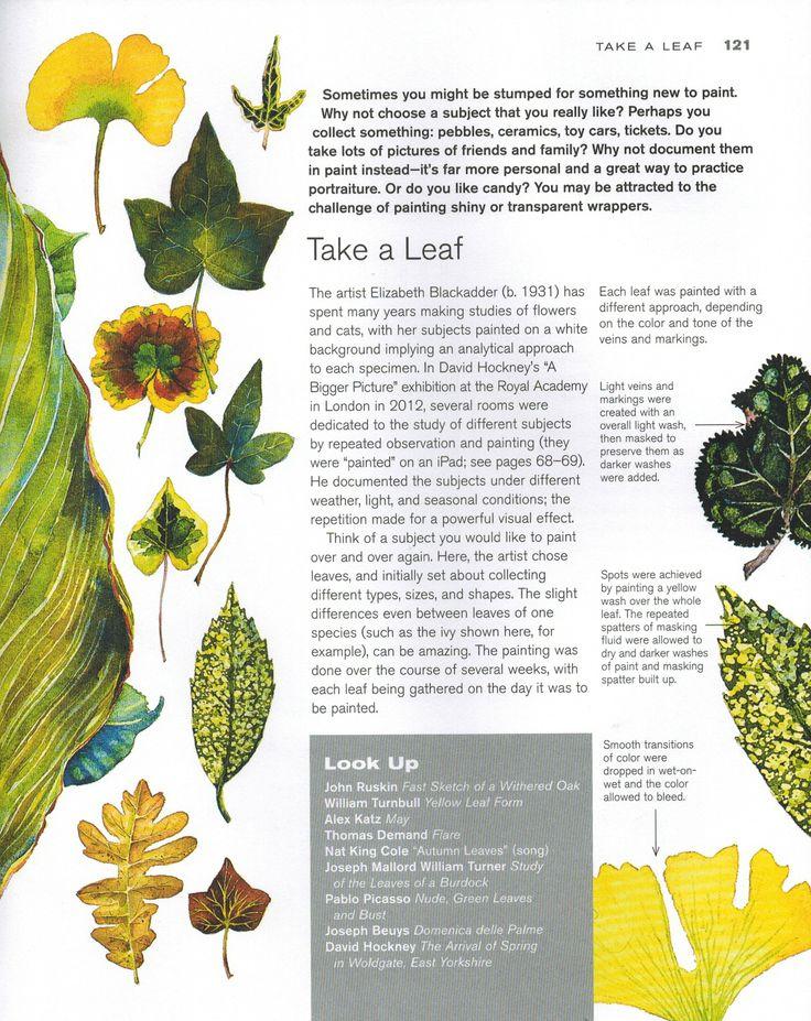 Sketchbook Activity: Take a Leaf (colour)