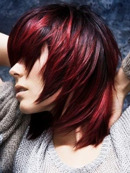 black to red ombre - another awesome ombre!