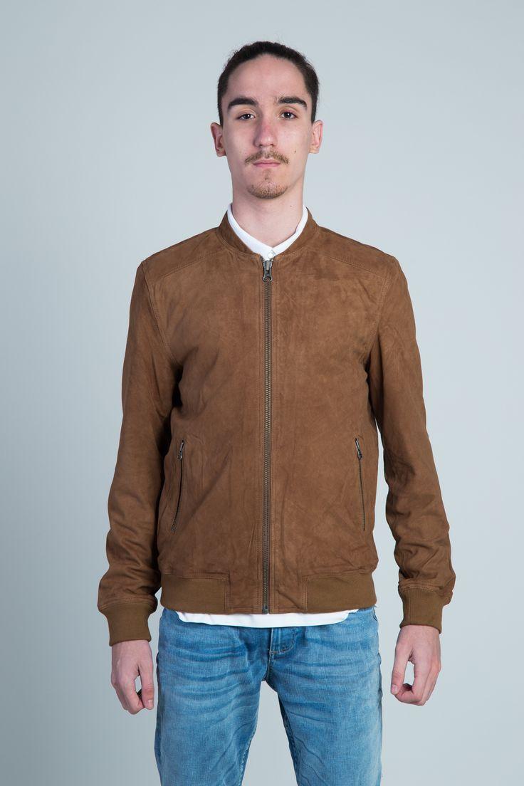 SELECTED HOMME Leather Bomber Jacket #hionidismankind #mensfashion
