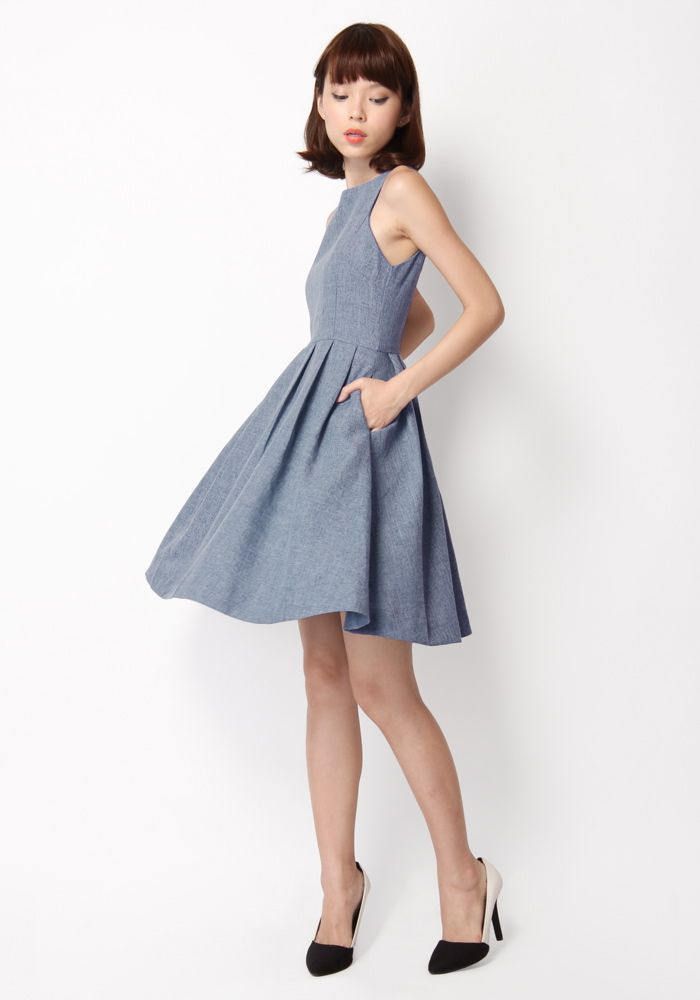 AMBROSIA SUIT DRESS IN BLUE