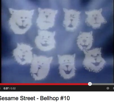 more experimental graphics in Sesame Street cartoons