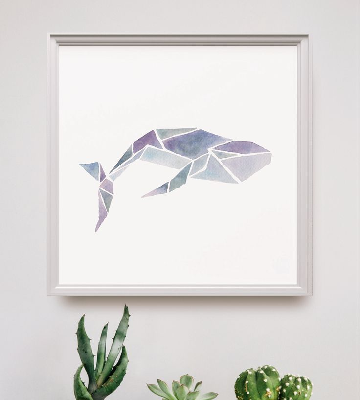 Watercolor Geometric Sea Animal Art Print by Peach or Plum? on Scoutmob