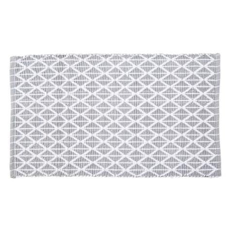 Woven Cotton Bathmat - Grey & White KMART HOME $9
