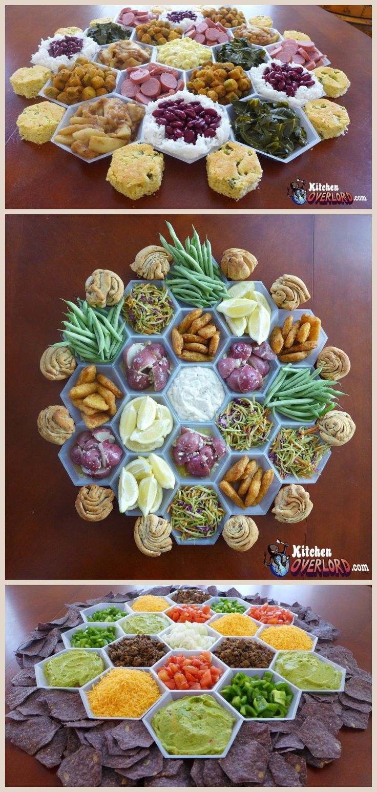 Settlers of Catan snacks.  Try something creative for your next game night with friends.  Who wouldn't love this Catan inspired spread?