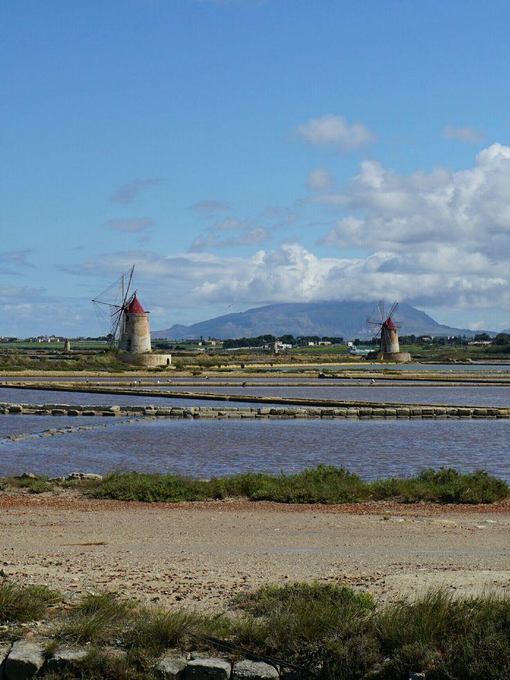 De zoutmolentjes bij Marsala
