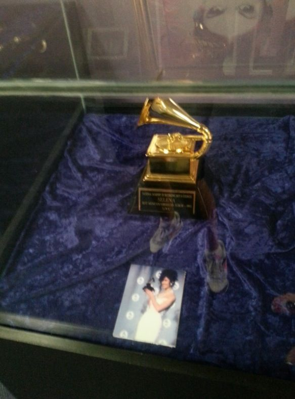 Selena's Grammy at the Selena Museum in Corpus Christi Texas