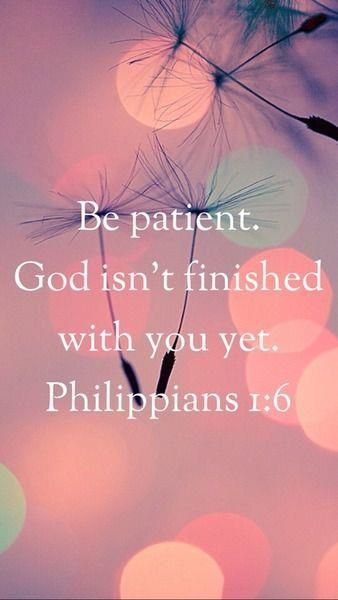 "PATIENCE IS GRACE TO WEATHER OUR TRIALS: ""Those times when you feel like quitting can be times of great opportunity, FOR GOD USES YOUR TROUBLES TO HELP YOU GROW,"" Warren Wiersbe. ""Rejoice in hope, be patient in tribulation, be constant in prayer,"" Romans 12:12."
