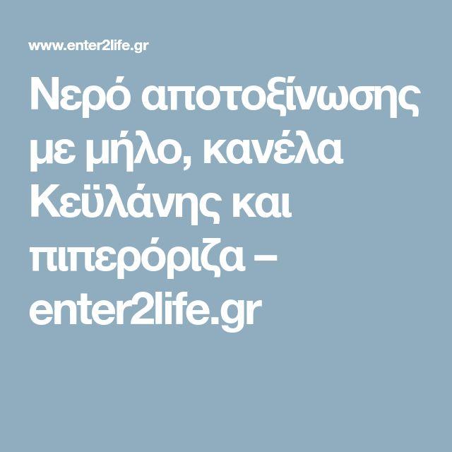 Νερό αποτοξίνωσης με μήλο, κανέλα Κεϋλάνης και πιπερόριζα – enter2life.gr