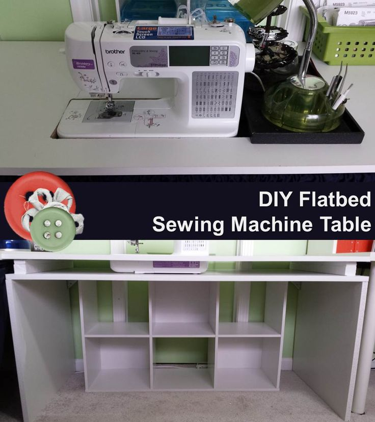 Diy flatbed sewing machine table tables